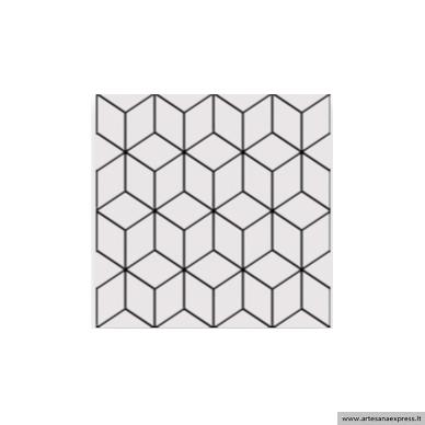 Alhambra Negro 25x25