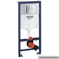 GROHE Rapid SL potinkinis WC rėmas 3in1, (rėmas+Arena Cosmo horizontalus chromuotas mygtukas+tvirtinimai)  h=1130mm