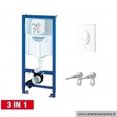 GROHE Rapid SL potinkinis WC rėmas 3in1, (rėmas+Skate Air baltas mygtukas+tvirtinimai)  h=1130mm