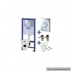 GROHE Rapid SL potinkinis WC rėmas 4in1, (rėmas+chromuotas mygtukas+tvirtinimai+tarpinė)  h=1130mm