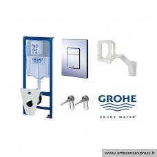 GROHE Rapid SL potinkinis WC rėmas 5in1, (rėmas+Cosmo chromuotas mygtukas+GroheFresh+tvirtinimai+tarpinė)  h=1130mm