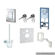 GROHE Rapid SL potinkinis WC rėmas 6in1, (rėmas+Cosmo chromuotas mygtukas+WC šepetys+GroheFresh+tvirtinimai+tarpinė)  h=1130mm