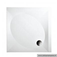 PAA ART KV90 akmens masės dušo padėklas, baltas