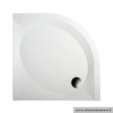 PAA ART RO100 akmens masės dušo padėklas, baltas