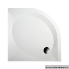 PAA ART RO90R500 akmens masės dušo padėklas, baltas