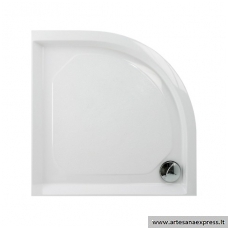 PAA CLASSIC RO90R500 akmens masės dušo padėklas, baltas