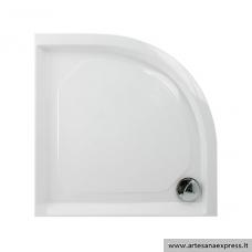 PAA CLASSIC RO90R550 akmens masės dušo padėklas, baltas