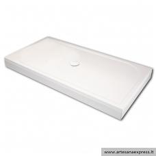 PAA LARGO 80X160 akmens masės dušo padėklas, baltas