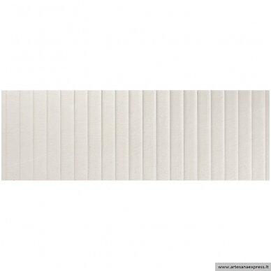 Trevi 1215 Relieve plisse white 40x120