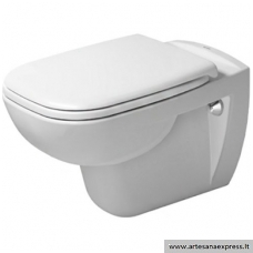 WC Duravit D-Code pakabinamas su soft close dangčiu