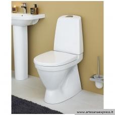 """WC Gustavsberg pastatomas NAUTIC su paslėptu """"P"""" nuotakas, dangtis su soft close, """"Hygienic Flush"""" funkcija"""