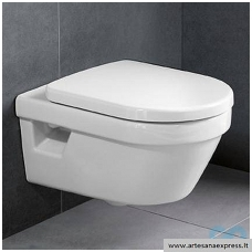WC Villeroy&Boch pakabinamas Omnia Architectura su Rimless ir soft close dangčiu