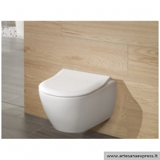 WC Villeroy&Boch Subway 2.0 pakabinamas su Direct Flush ir Slim soft close dangčiu